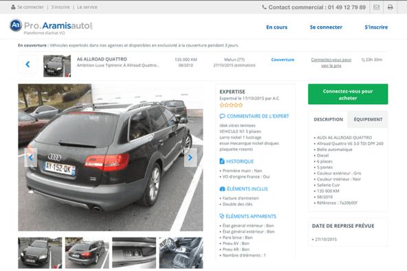 Développement de pro.aramisauto.com