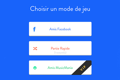 Réalisation de l'application Music Mania