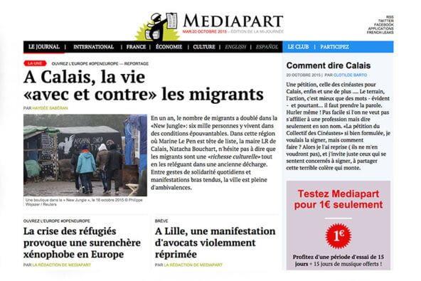 Refonte de la plateforme www.mediapart.fr