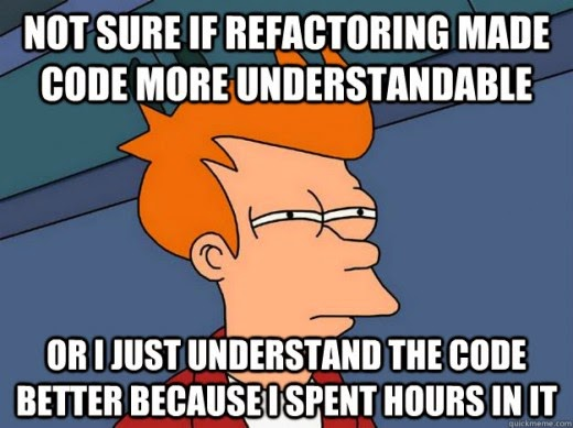 Not sure if refactoring